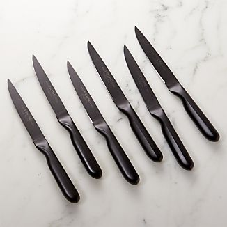 Prime ™ by Chicago Cutlery ® Black Oxide 6-Piece Steak Knife Set