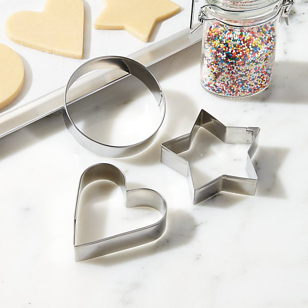 Chicago Metallic ™ Cookie Cutters, Set of 3 - Image 1 of 2