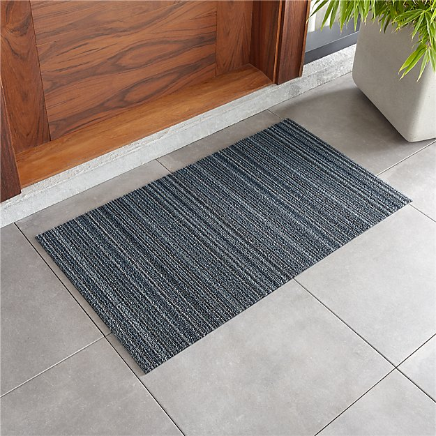 "Chilewich ® Blue Stripe Woven Floormat 20""x36"" - Image 1 of 3"