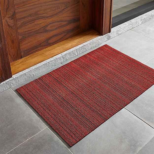 "Chilewich ® Red Striped 20""x36"" Doormat"