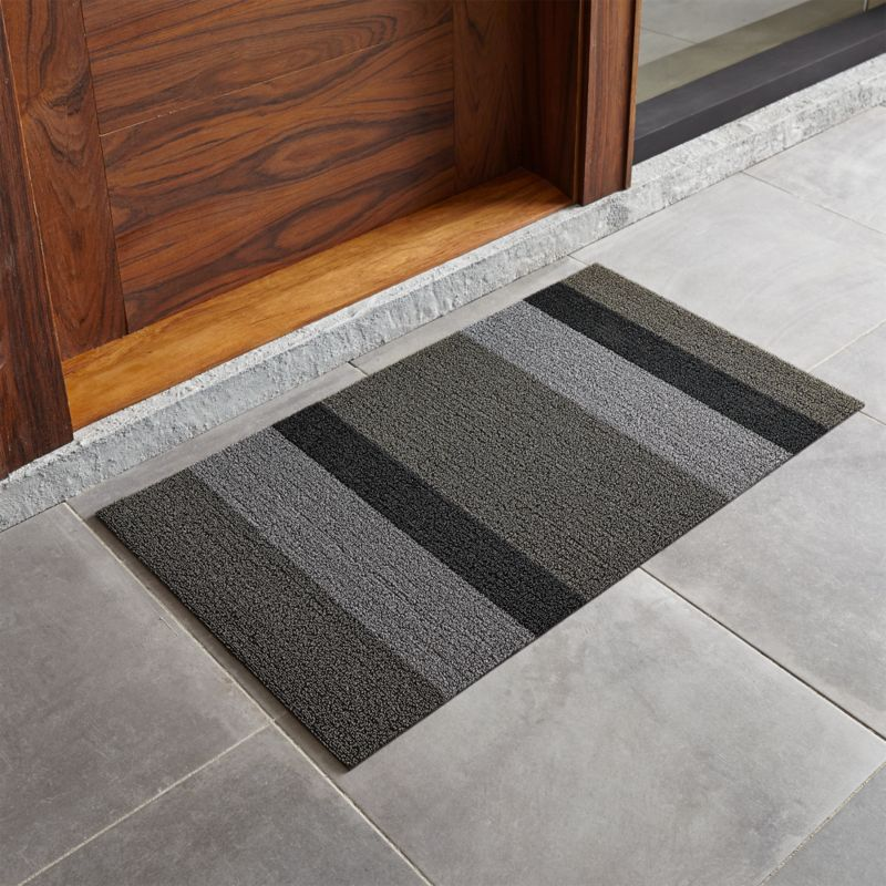 Chilewich Silver Black Striped 20 Quot X36 Quot Doormat Reviews