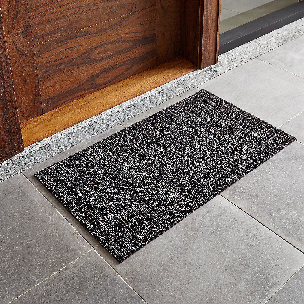 chilewich ® steel x doormat  crate and barrel - tap to zoom chilewichdrmtstlxcss