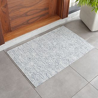 Chilewich ® Mosaic Blue Woven Floormat