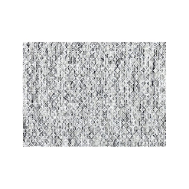"""Chilewich ® Mosaic Blue Woven Floormat 35""""x48"""" - Image 1 of 4"""