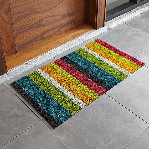 "Chilewich ® Multi Thick Striped 20""x36"" Doormat"