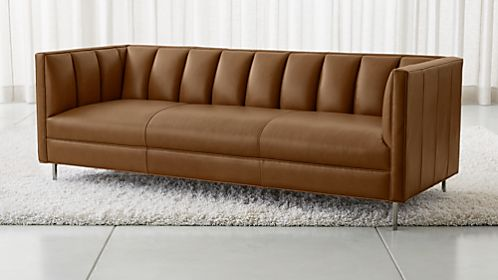 chloe leather sofa - Sofa Leather