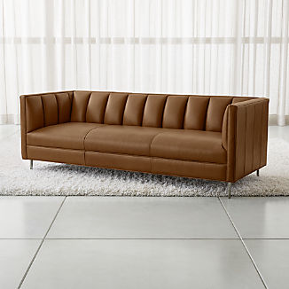 Leather Sofas & Chairs   Crate and Barrel
