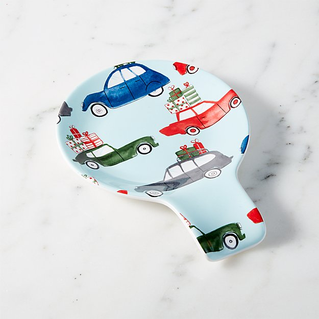 Christmas Cars Spoon Rest