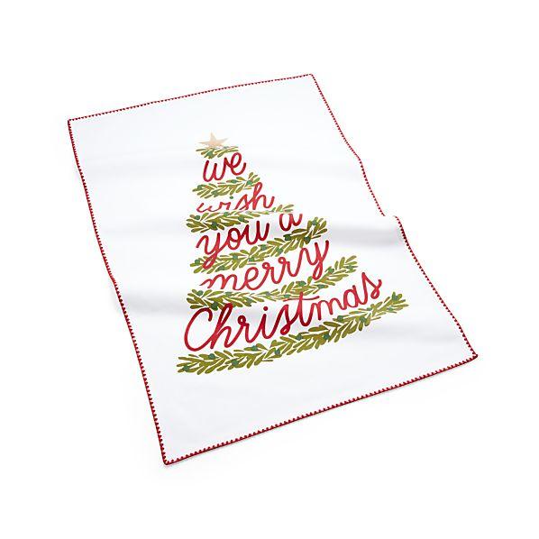 ChristmasTreeDishTowelAVF17