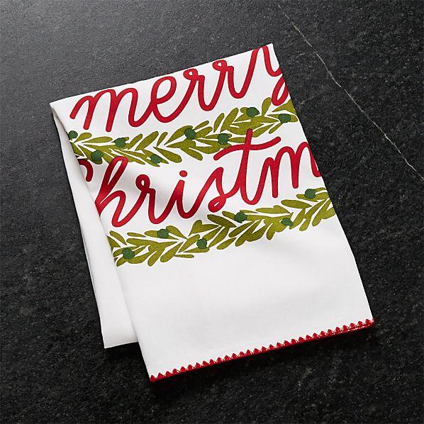 ChristmasTreeDishTowelSHF17