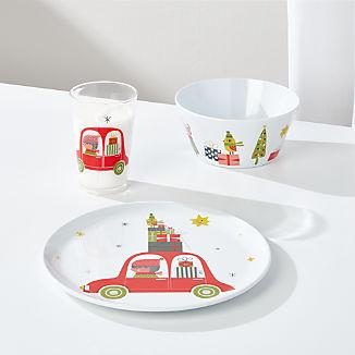 Christmas Whimsy 3-Piece Melamine Holiday Set