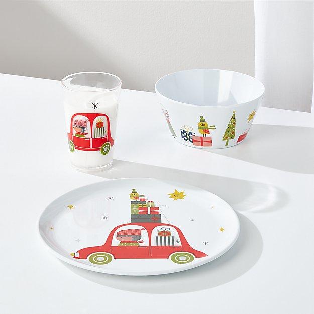 Christmas Whimsy 3-Piece Melamine Holiday Set - Image 1 of 3