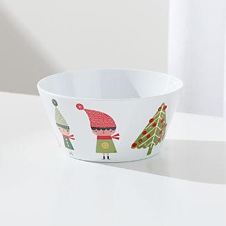 Christmas Whimsy Melamine Holiday Bowl