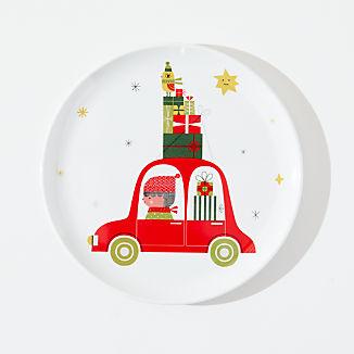 Christmas Whimsy Melamine Holiday Plate