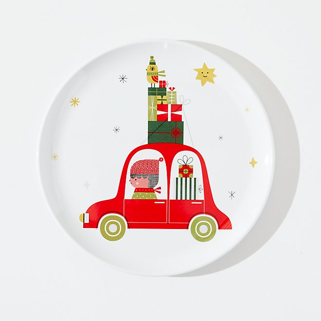 Christmas Whimsy Melamine Holiday Plate - Image 1 of 3
