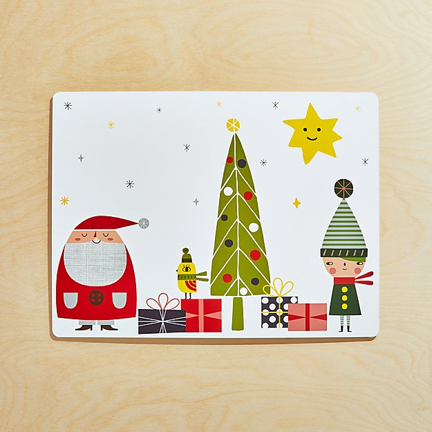 Christmas Whimsy Cork-Backed Hard Placemat - Image 1 of 4
