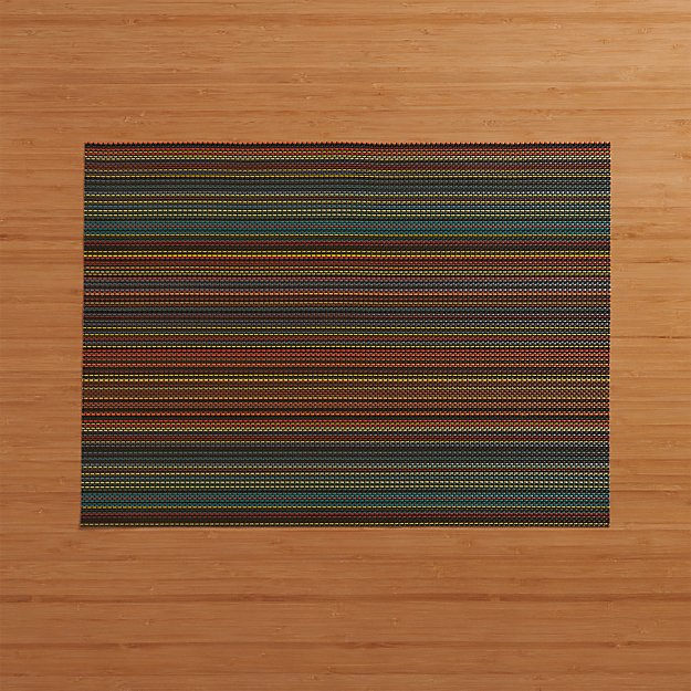 Chilewich ® Chroma Dark Striped Vinyl Placemat - Image 1 of 3