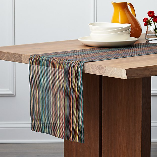 Chilewich ® Chroma Dark Striped Table Runner