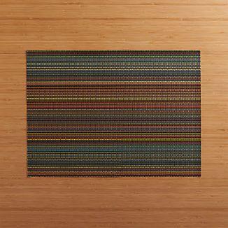 Chilewich ® Chroma Dark Striped Vinyl Placemat