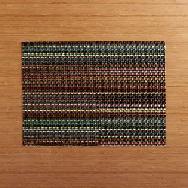 Chilewich Chroma Dark Striped Vinyl Placemat Reviews