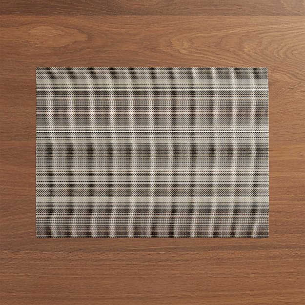 Chilewich ® Chroma Grey Stripe Vinyl Placemat - Image 1 of 3