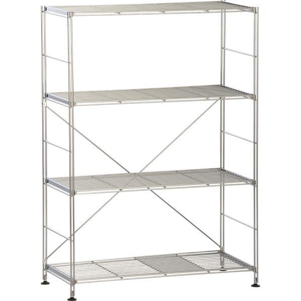 Chrome 4-Shelf Unit