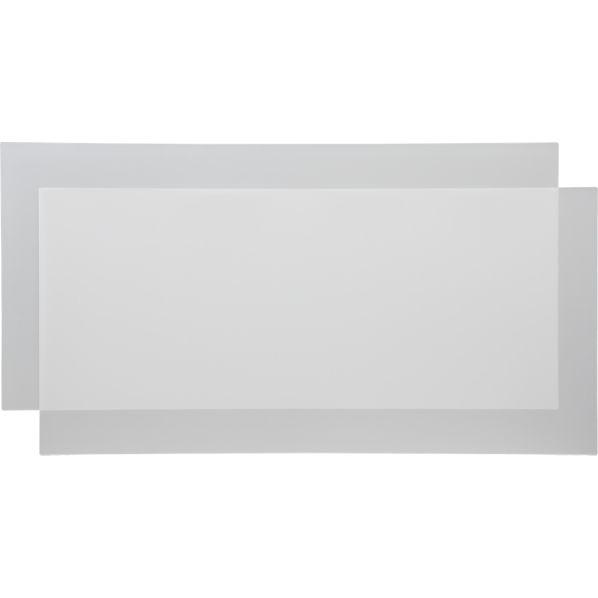Set of 2 Polypropylene Boards for Max Chrome Shelving Units