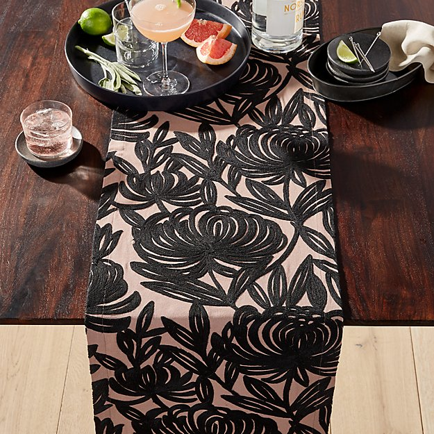 Chrysa Embroidered Table Runner - Image 1 of 2