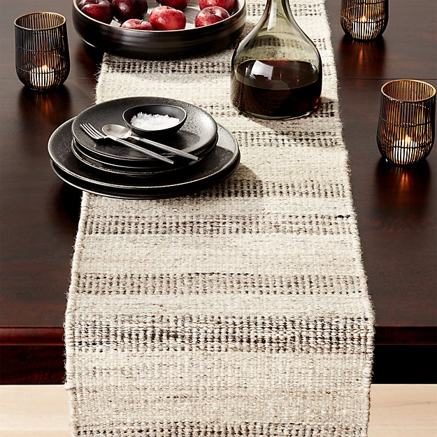Ciara wool 120 table runner crate and barrel for 120 table runners
