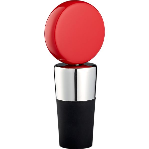 Circ Red Bottle Stopper
