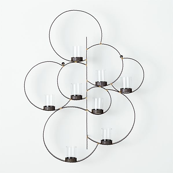 Circle Metal Wall Candle Holder