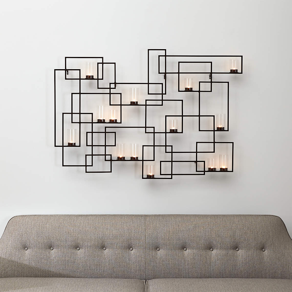 Circuit Metal Wall Candle Holder + Reviews | Crate and Barrel