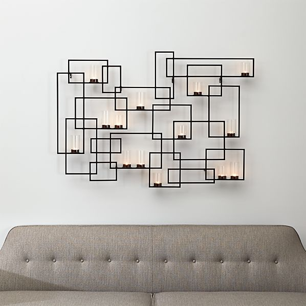 Circuit Metal Wall Candle Holder