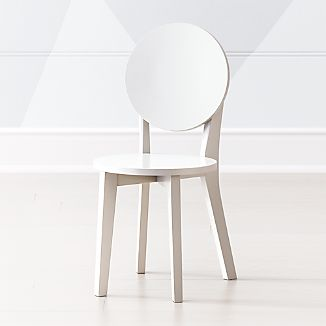 Amazing Double Dot White Kids Play Chair