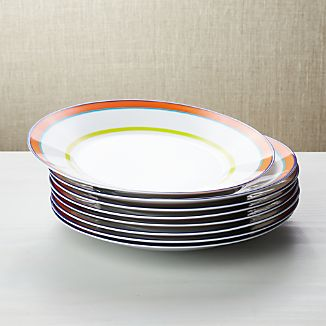 Set Of 8 Cirque Dinner Plates