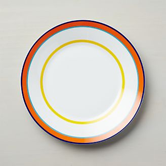 Cirque Dinner Plate & Dinner Plates: Square Oval Rectangular u0026 Round | Crate and Barrel