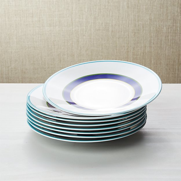 Set of 8 Cirque Salad Plates