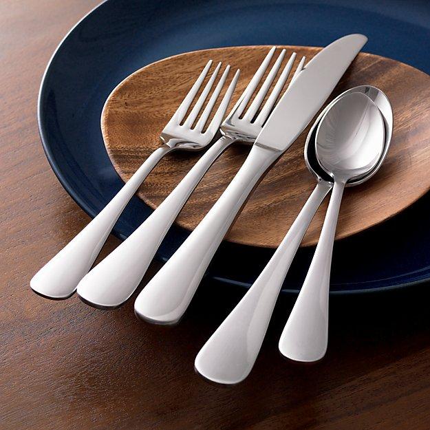 cirrus 52 piece flatware set in flatware patterns. Black Bedroom Furniture Sets. Home Design Ideas