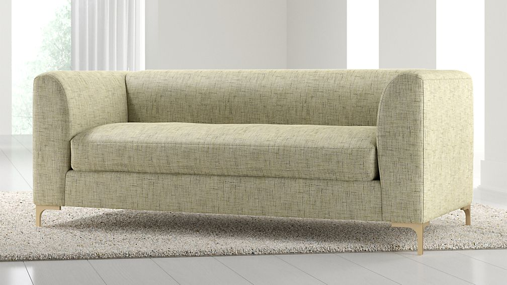 Claire Petite Modern Apartment Sofa with Metal Legs - Image 1 of 6