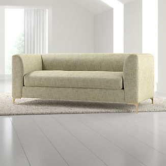 Claire Petite Modern Apartment Sofa with Metal Legs
