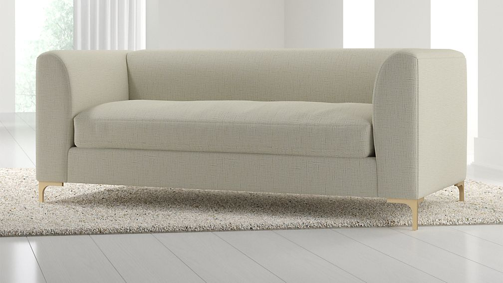 Claire Petite Modern Apartment Sofa with Metal Legs + Reviews ...