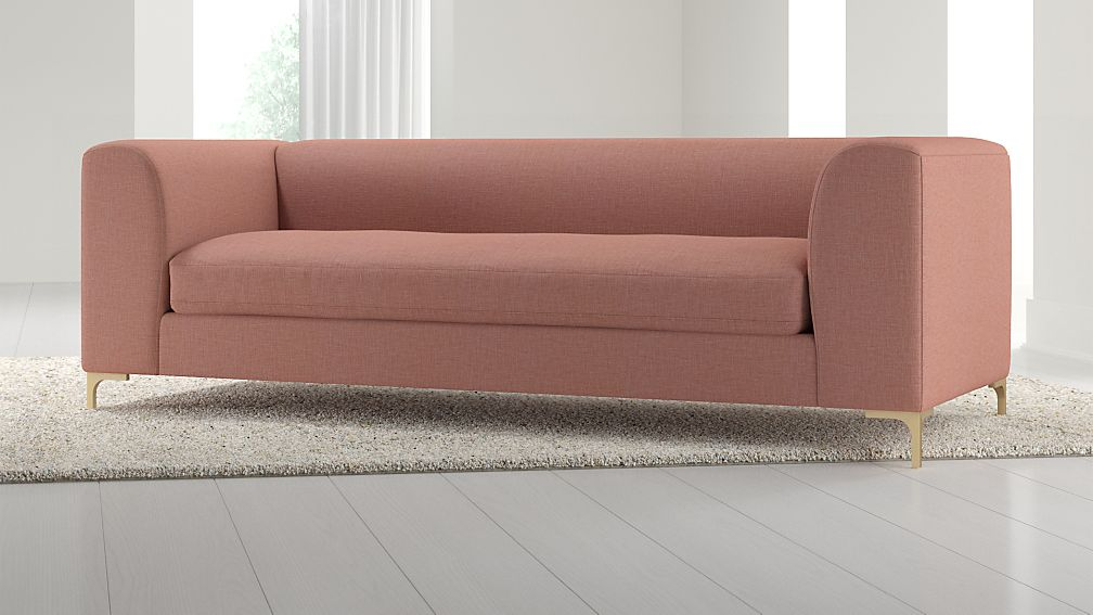 Claire Modern Sofa with Metal Legs + Reviews | Crate and Barrel
