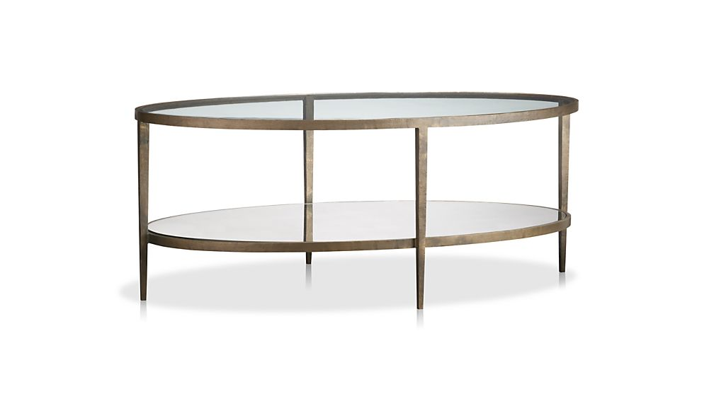 clairemont oval coffee table reviews crate and barrel - Metal Frame Coffee Table