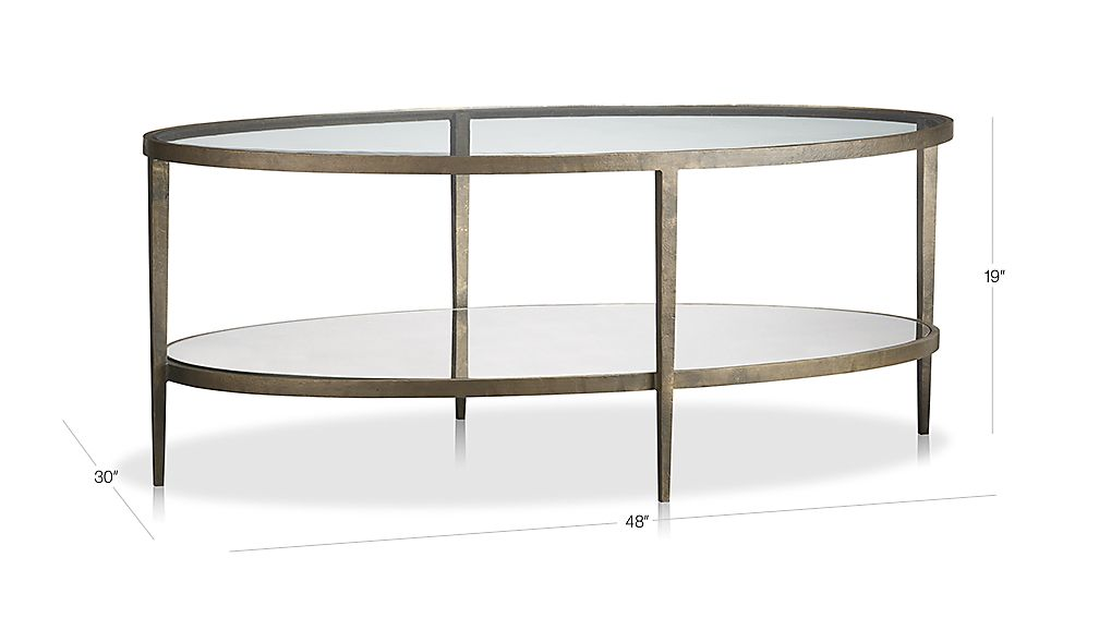 Exceptionnel TAP TO ZOOM Image With Dimension For Clairemont Oval Coffee Table