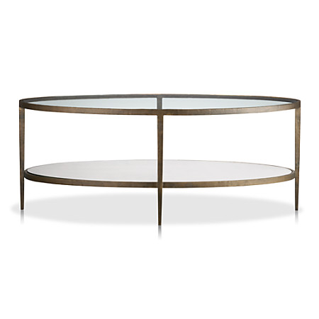 Oval Coffee Table With Shelf.Clairemont Oval Coffee Table