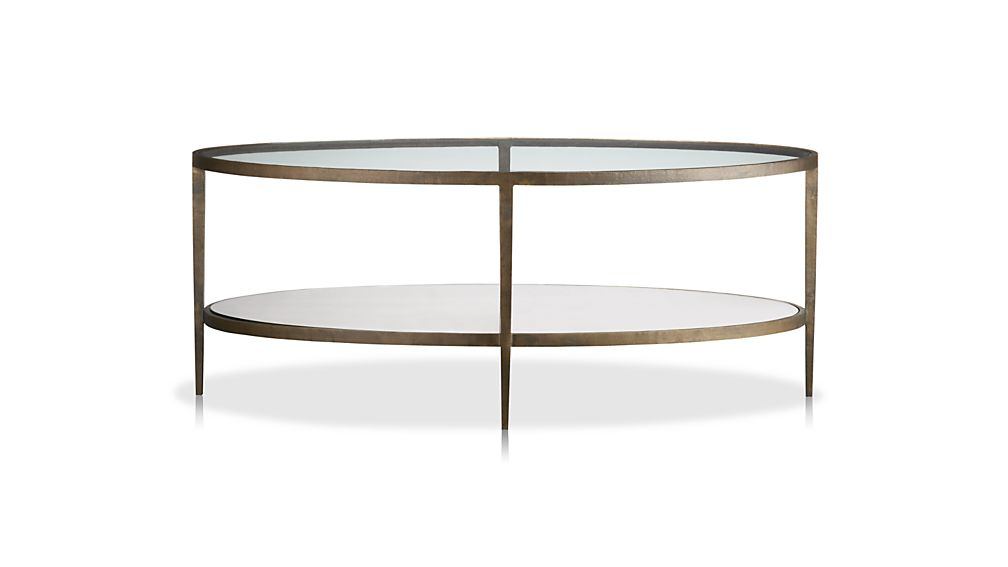 Clairemont oval coffee table crate and barrel for Oval glass coffee table