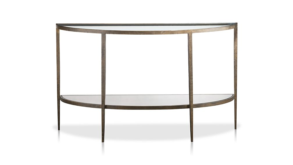 Demilune Sofa Table French Neoclic Marble And Br Demilune