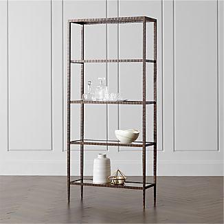 Clairemont Glass Shelf Bookcase