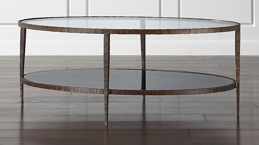 Clairemont Oval Coffee Table Crate and Barrel
