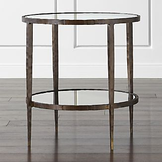 Metal End Tables Crate and Barrel